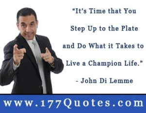 Motivational Quote: Step Up to the Plate of Life