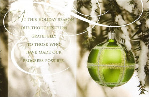 ... Christmas Cards > Business Holiday Cards > Green Ornament Appreciation