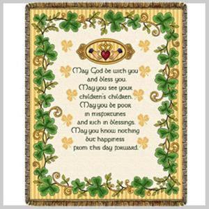 Irish Wedding Blessing Throw