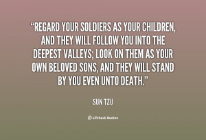 quote Sun Tzu regard your soldiers as your children and 105783.png