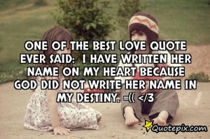 Best Love Quote Ever Said
