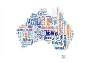 Australian Sayings Map - Funny Slang Phrases - Unique, Unusual Gift ...
