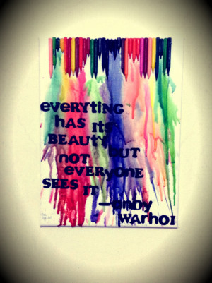 melted crayon art with quotes crayon art