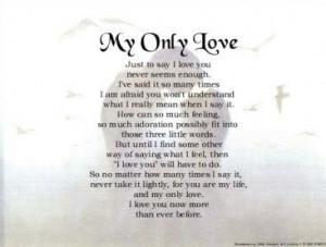 My only love poem