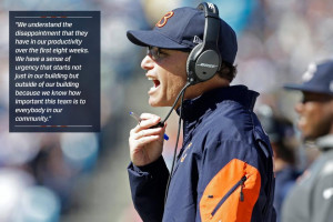 Coach Marc Trestman on fans being upset about the Bears' 3-5 record: