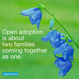 Open adoption is about two families coming together as one.""