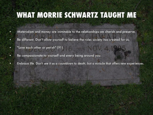 WhAT MORRIE SCHWARTZ TAUGHT ME
