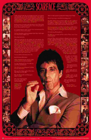 scarface famous movie quotes poster 60x90cm new tony montana al pacino