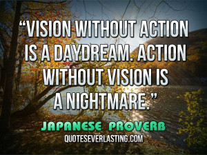 Nightmare Quotes Sayings Vision is a nightmare.