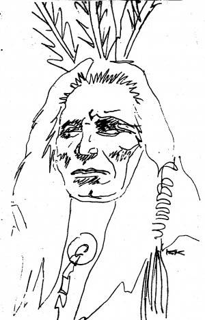Indian Chief Ink Drawing...