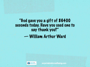 You A Gift Of 86400 Seconds Today. Have You Used One To Say Thank You ...