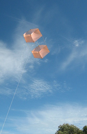 most of the history of Box kites, someone has flown one just for fun ...