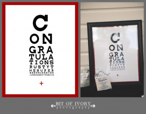 Nurse Graduation Congratulations Eye Chart Poster Printable.