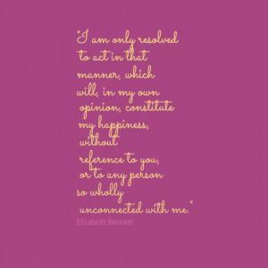 Elizabeth Bennett quote