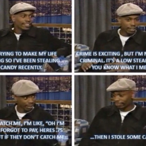 Dave Chappelle Is All About Low Stake Crimes & Stealing Candy During a ...