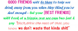 enjoy life with friends drink
