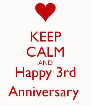 3rd anniversary happy