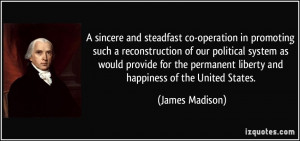 sincere and steadfast co-operation in promoting such a reconstruction ...