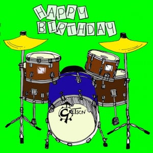 Happy Birthday Drum Kit