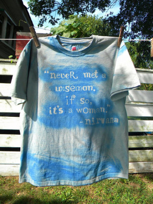 Nirvana Song Lyrics Quote about Women Grunge Music Band Mens or Womens ...
