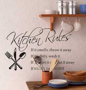 Kitchen wall quotes vinyl art decals