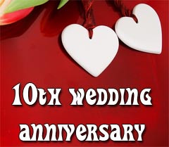 the 10th wedding anniversary is also called the tin wedding ten years ...
