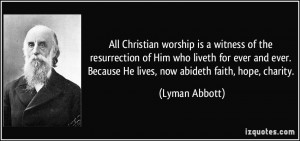 All Christian worship is a witness of the resurrection of Him who ...