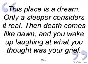 this place is a dream rumi