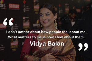 ... attitude quote by Bollywood actress Vidya Balan - Vidya Balan quotes