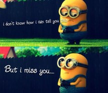 miss you, minions, sad, minion sad