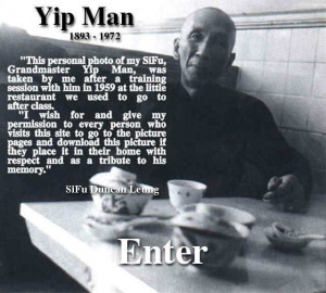 Welcome to SiFu Leung's WebSite, please wait until the Picture of Yip ...
