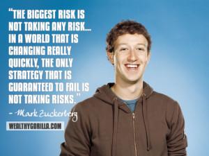 Mark Zuckerberg Inspirational Quote