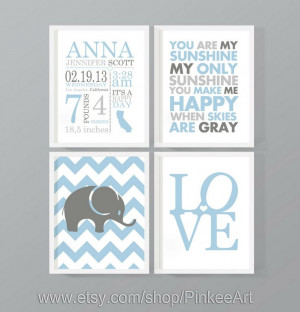 baby boy birth stats nursery subway art with birth by PinkeeArt, $29 ...