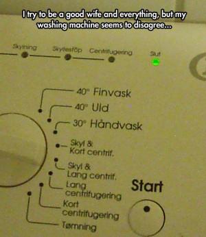 Judgmental washing machine…