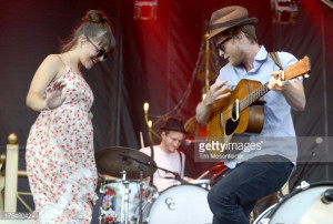 News Photo Neyla Pekarek and Wesley Schultz of The Lumineers