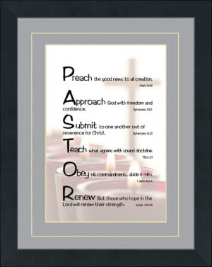 Pastor Acrostic Art Christian Wall Decor