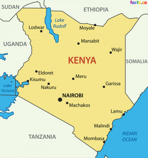 Kenya Map with cities