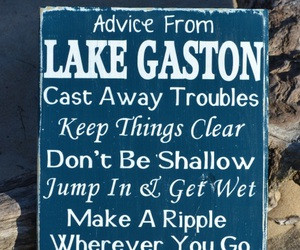 ... Lake House Decor - Lake Gift - Lake Life Sayings Quotes on Wood - Lake