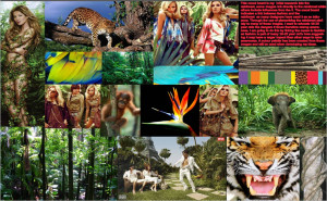 Initial mood board of images that are used throughout the project, and ...