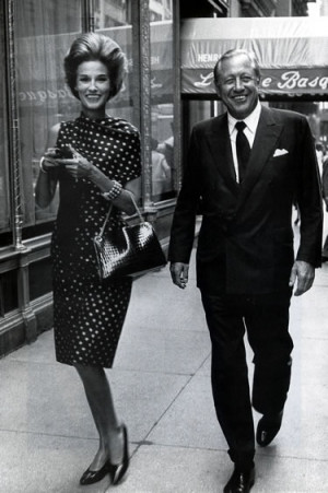 Babe and Bill Paley in front of the restaurant immortalized in Truman ...