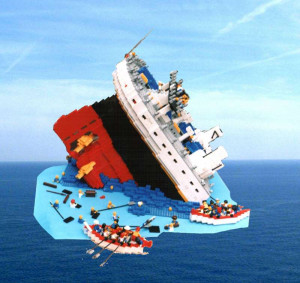 Lego Titanic Sinking Picture
