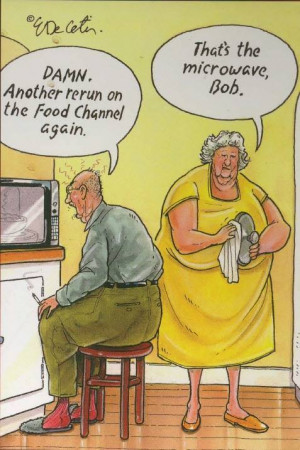 Funny old people cartoon