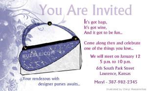 Purse Party Invitations