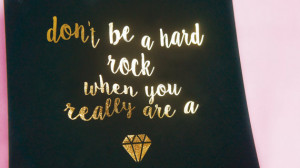 Lauryn Hill Gem Quote - Real Gold Foil Art Print