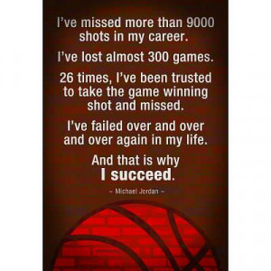 Michael Jordan - Succeed Quote Motivational Poster