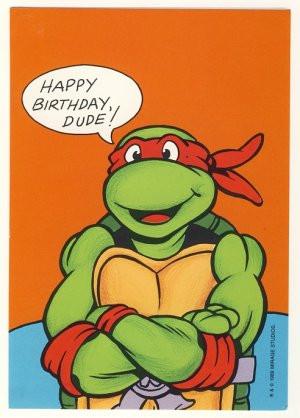 Teenage Mutant Ninja Turtles Happy Birthday Cards
