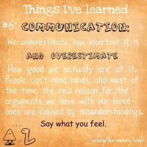 Things I have learned quote