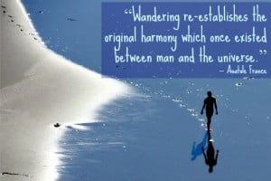 Wandering re-establishes the original harmony which once existed ...