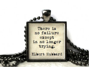 Elbert Hubbard quote resin necklace or keychain word jewelry quote ...