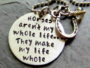 Horse Lover Quotes http://www.etsy.com/listing/86927057/hand-stamped ...